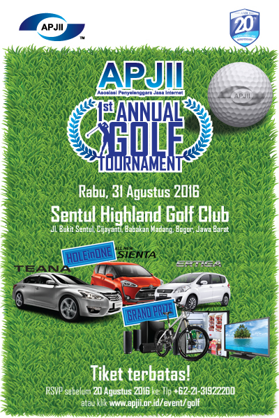 APJII 1st ANNUAL GOLF TOURNAMENT