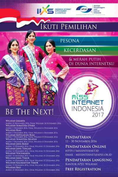 MISS INTERNET INDONESIA 2016