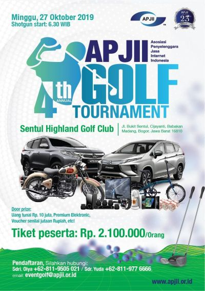 APJII GOLF TOURNAMENT 4th